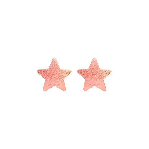 Burnished Pink Lana Star Studs