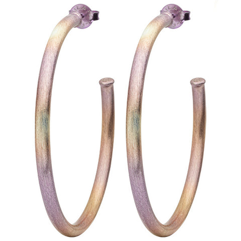 Burnished Lavender Everybody's Favorite Hoops