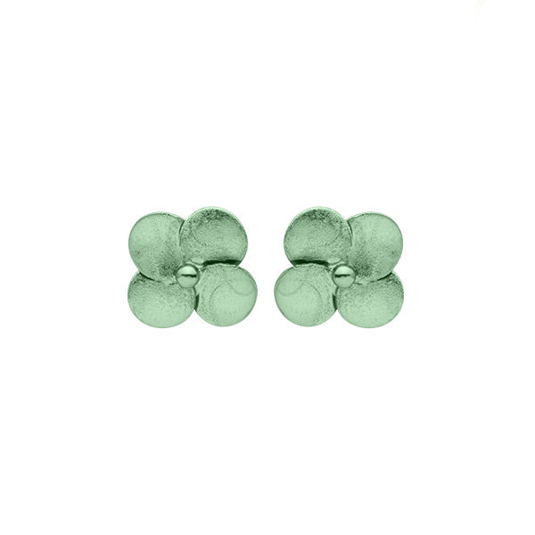 Mint Flower Stud Earrings