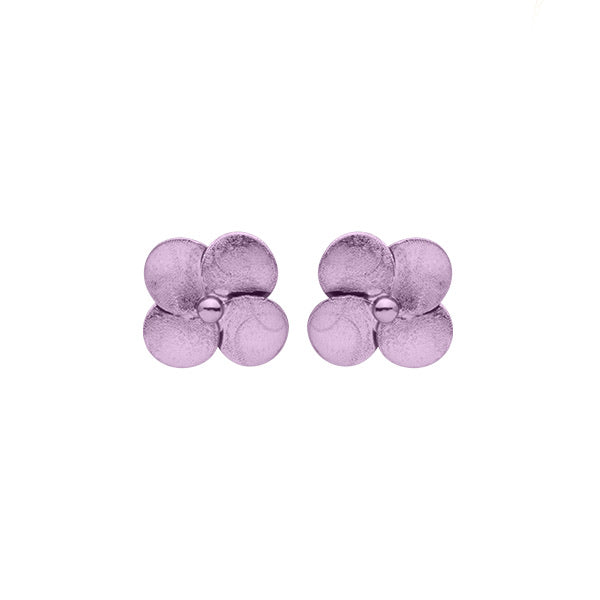 Lavender Flower Stud Earrings