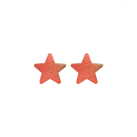 Burnished Red Lana Star Studs