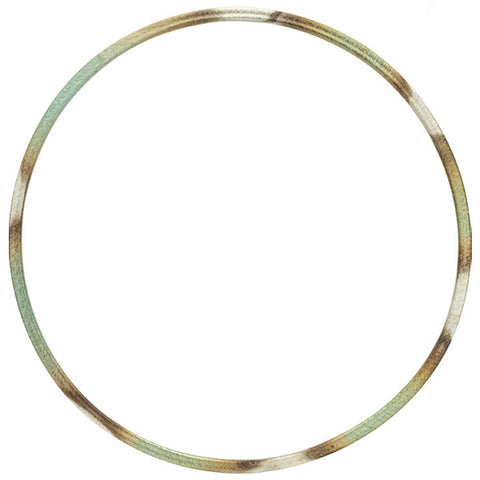 Burnished Mint Thin Flat Bangle