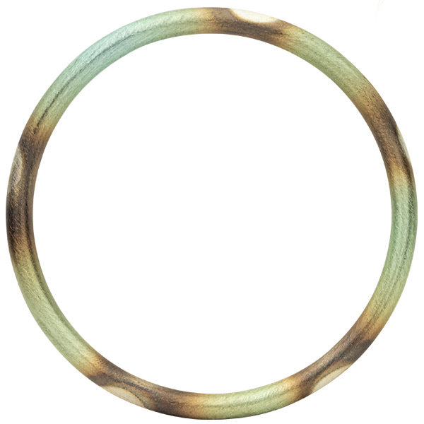 Burnished Mint Round Bangle
