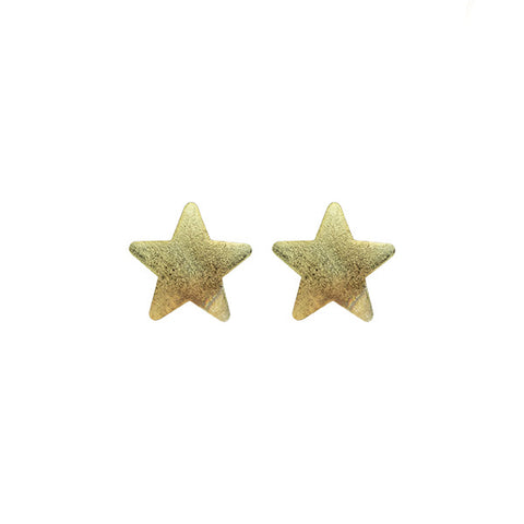 Burnished Mint Lana Star Studs
