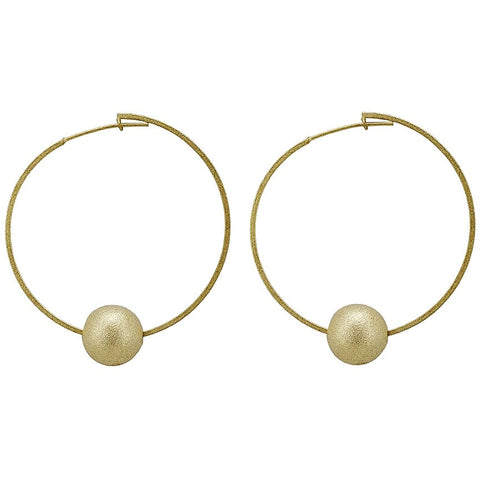 Cynthia Ball Hoop Earrings