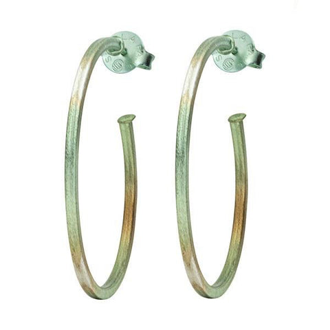 Burnished Mint Perfect Hoops