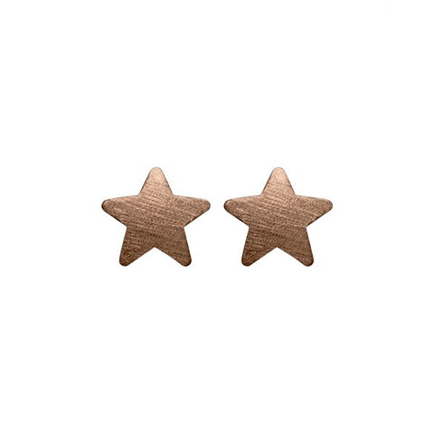 Chocolate Lana Star Studs
