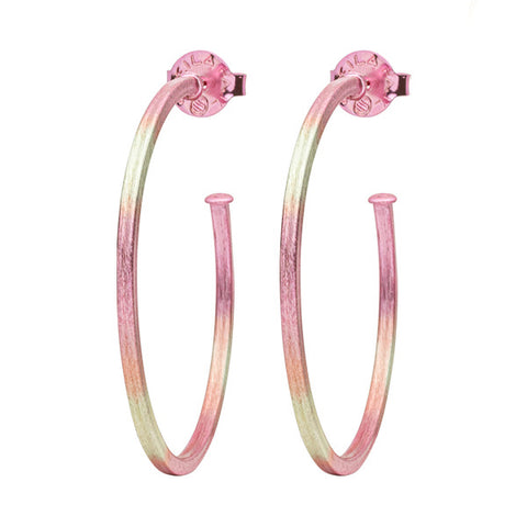 Burnished Pink Perfect Hoops