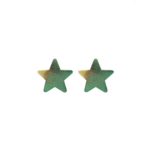 Burnished Royal Blue Lana Star Studs