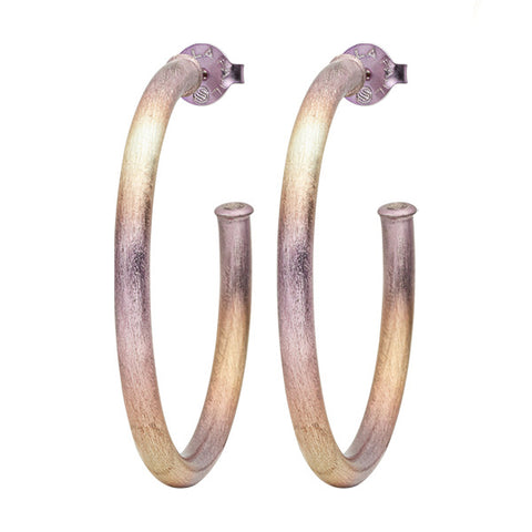 Burnished Lavender Small Everybody's Favorite Hoops