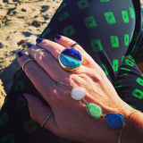 Turquoise Howlite and Sodalite Round Ring