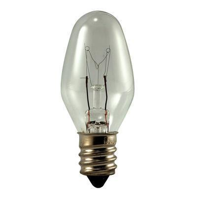 C7 Night Light Incandescent Bulb - E12 Candelabra Base - 10W - EIKO