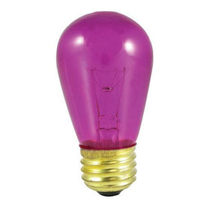 S14 Pear Shaped Sign Indicator, Sign & Night Light Incandescent Bulb - E26 Medium Base - 11W - Bulbrite
