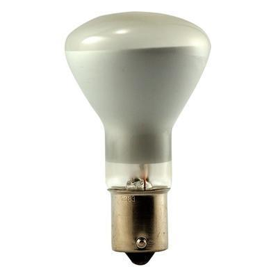 R12 Top Frosted, Bottom Reflectorized Incandescent Light Bulb - BA15s Single Contact Bayonet Base - 13V - EIKO