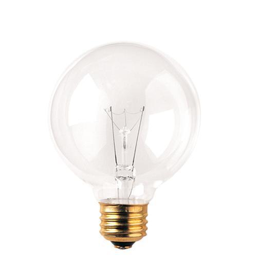 G25 Baseball Globe Vanity Incandescent Bulb - E26 Medium Base - 25W, 40W - Bulbrite