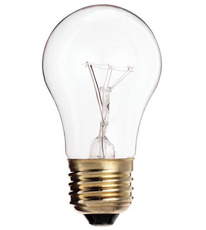 A15 Appliance Incandescent Bulb - E26 Medium Base - 40W - SATCO