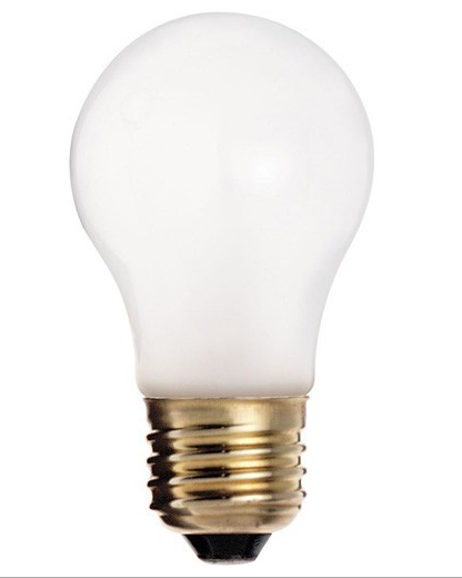 A15 Appliance Tuffcoat Safety Shield Incandescent Bulb - E26 Medium Base - 40W, 60W - SATCO