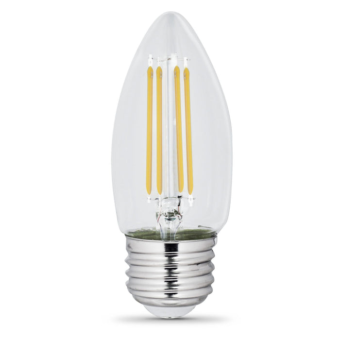 C10 Blunt Tip LED Bulb - E26 Medium Base - 5.5W - FEIT