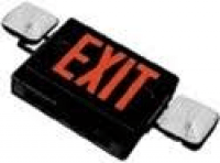 Emergency LED Exit Sign / Flood Combo LED - Black, White - BEST