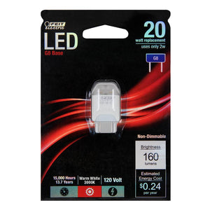 Wedge LED Bulb - G8 Base - 2W - FEIT