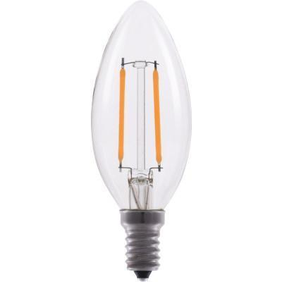 B11 Chandelier Filament LED Bulb - E12 Candelabra Base - 2.5W - EIKO