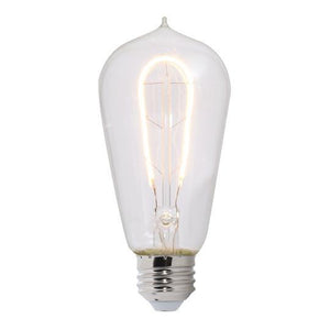ST18 Curved Filament Nostalgic LED Bulb - E26 Medium Base - 2W, 4W - Bulbrite