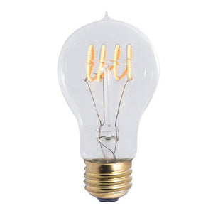 A19 Curved Filament Nostalgic LED Bulb - E26 Medium Base - 4W - Bulbrite