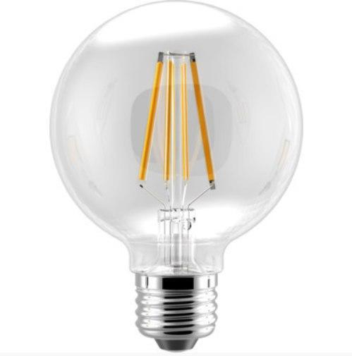 G25 Baseball Clear Filament LED Bulb - E26 Medium Base - 6W - EIKO