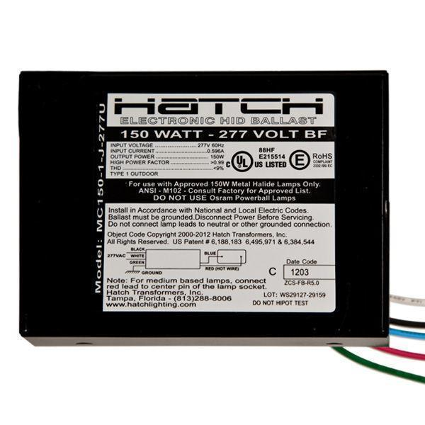 Metal Halide Electronic Ballast - 70W, 150W - Hatch