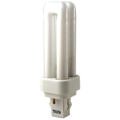 T4 Quad Tube Compact Fluorescent Bulb - GX23-2 Two Pin Base - 9W, 13W - Plusrite
