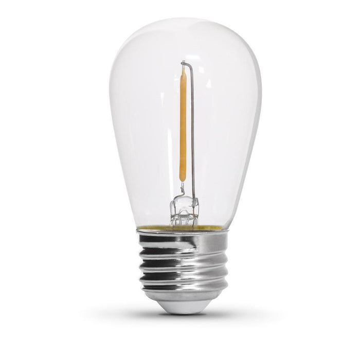 S14 Filament String Light LED Bulb - E26 Medium Base - 1W - FEIT