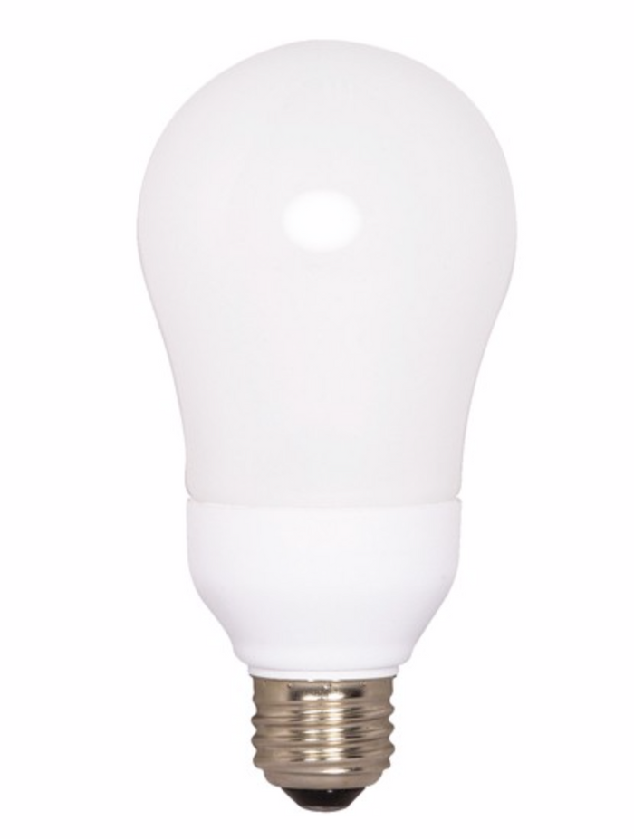A19 Compact Fluorescent Bulb - E26 Medium Base - 11W - SATCO