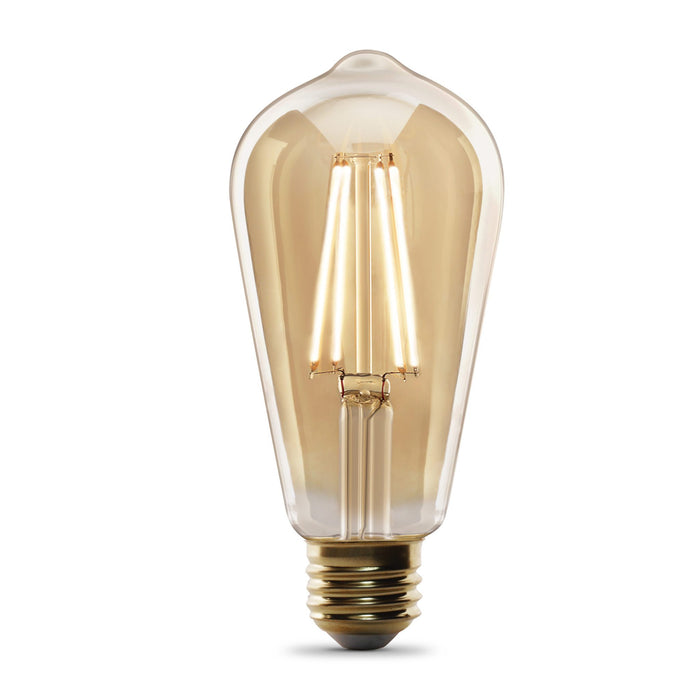 ST19 Vintage LED Bulb - E26 Medium Base - 5.5W - FEIT