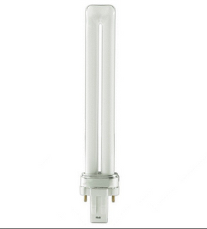 T4 Twin Tube DULUX Compact Fluorescent Bulb - GX23 Two Pin Base - 5W, 7W, 9W, 13W - Sylvania