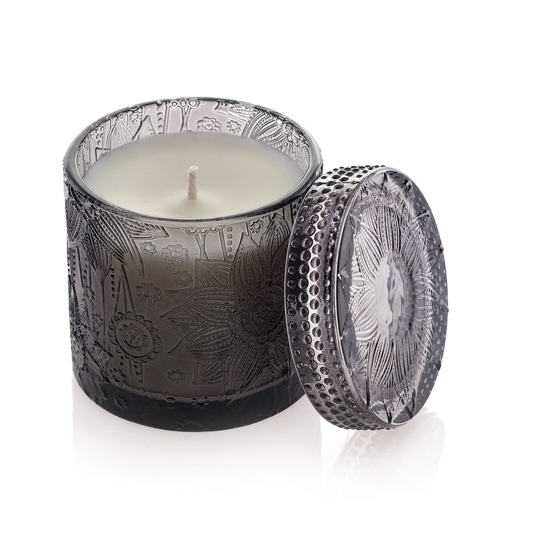 Decorative Candle Jar with Lid- Exotic Spice (Grey)