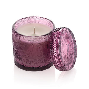 Decorative Candle Jar with Lid - Lavender (Purple)