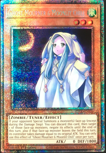 Ghost Mourner & Moonlit Chill-Starlight Rare-1st Edition-ETCO EN036 (NM)