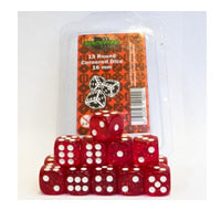 Blackfire Dice - 16mm D6 Dice Set in Box - Glitter Red (15 Dice)