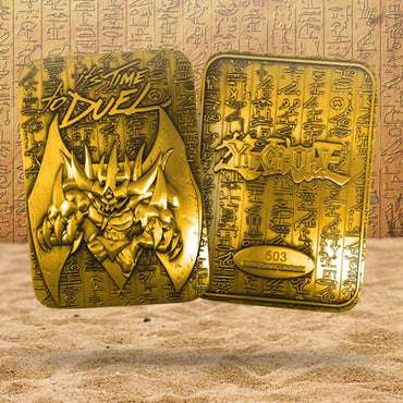 Yu-Gi-Oh! - Limited Edition 24K Gold Plated God Card Obelisk The Tormentor
