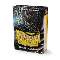Dragon Shield-Black-Classic Japanese Size Sleeves-Pack of 60