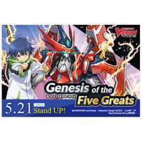 Cardfight!! Vanguard overDress - Genesis of The Five Greats Booster Box (Pre-Order)