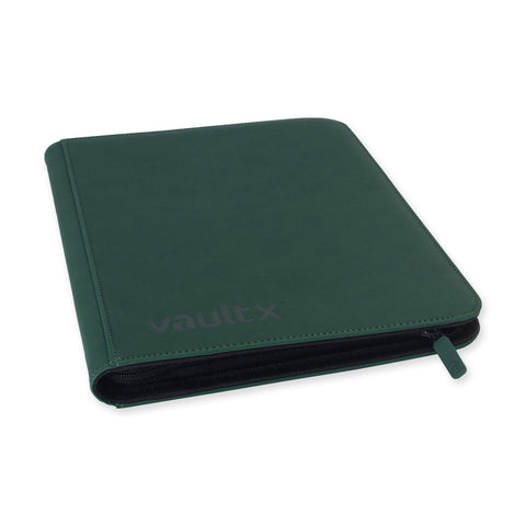 Vault X: 9-Pocket eXo-Tec® Zip Binder-Green (Pre-Order)
