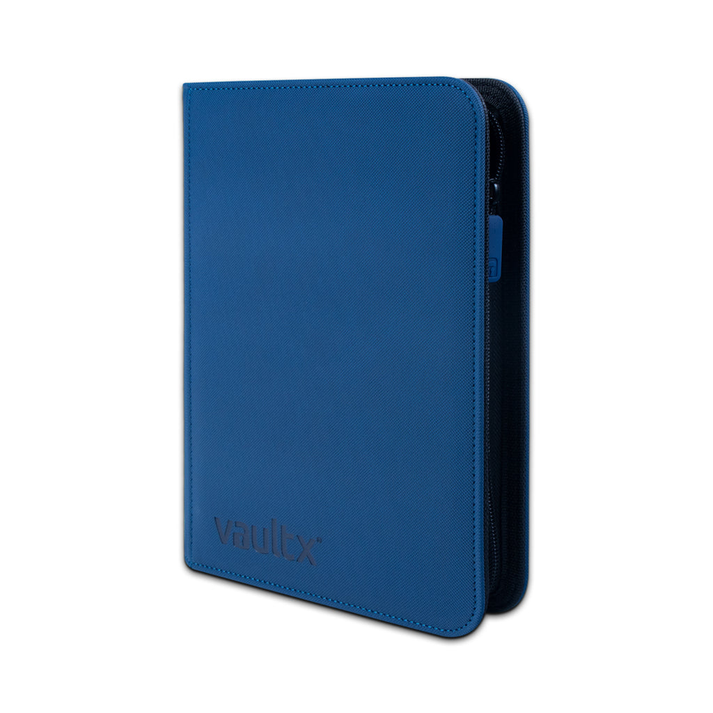 Vault X: 4-Pocket eXo-Tec® Zip Binder-Blue