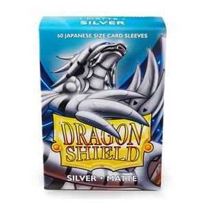 Dragon Shield-Silver-Matte Japanese Size Sleeves-Pack of 60