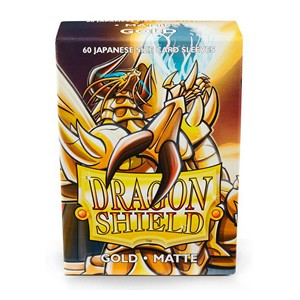 Dragon Shield-Gold-Matte Japanese Size Sleeves-Pack of 60