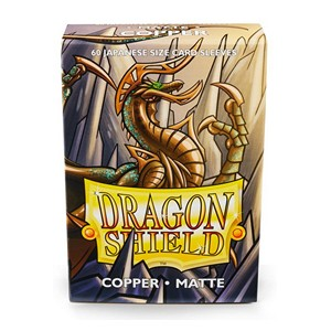 Dragon Shield-Copper-Matte Japanese Size Sleeves-Pack of 60