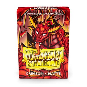 Dragon Shield-Crimson-Matte Japanese Size Sleeves-Pack of 60