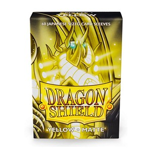 Dragon Shield-Yellow-Matte Japanese Size Sleeves-Pack of 60