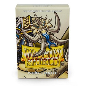 Dragon Shield-Ivory-Matte Japanese Size Sleeves-Pack of 60