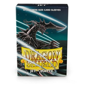 Dragon Shield-Jet-Matte Japanese Size Sleeves-Pack of 60